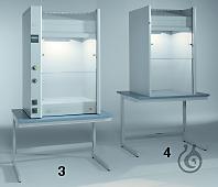 windaus labortechnik winlab laborger te und laborbedarf tischabzugshaube 800x1350x640mm mit. Black Bedroom Furniture Sets. Home Design Ideas